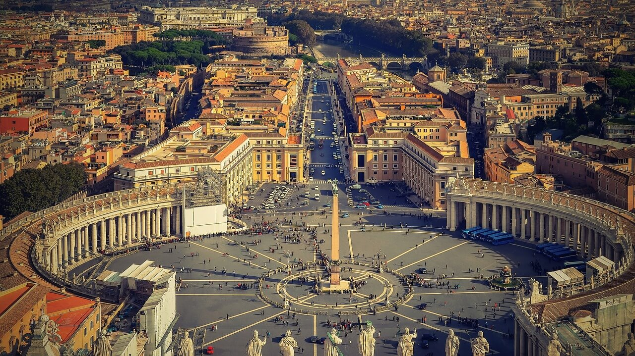 Vatican City from top view