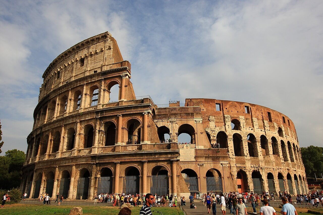 The Majestic Colosseum in Italy, one of the wonders of the world