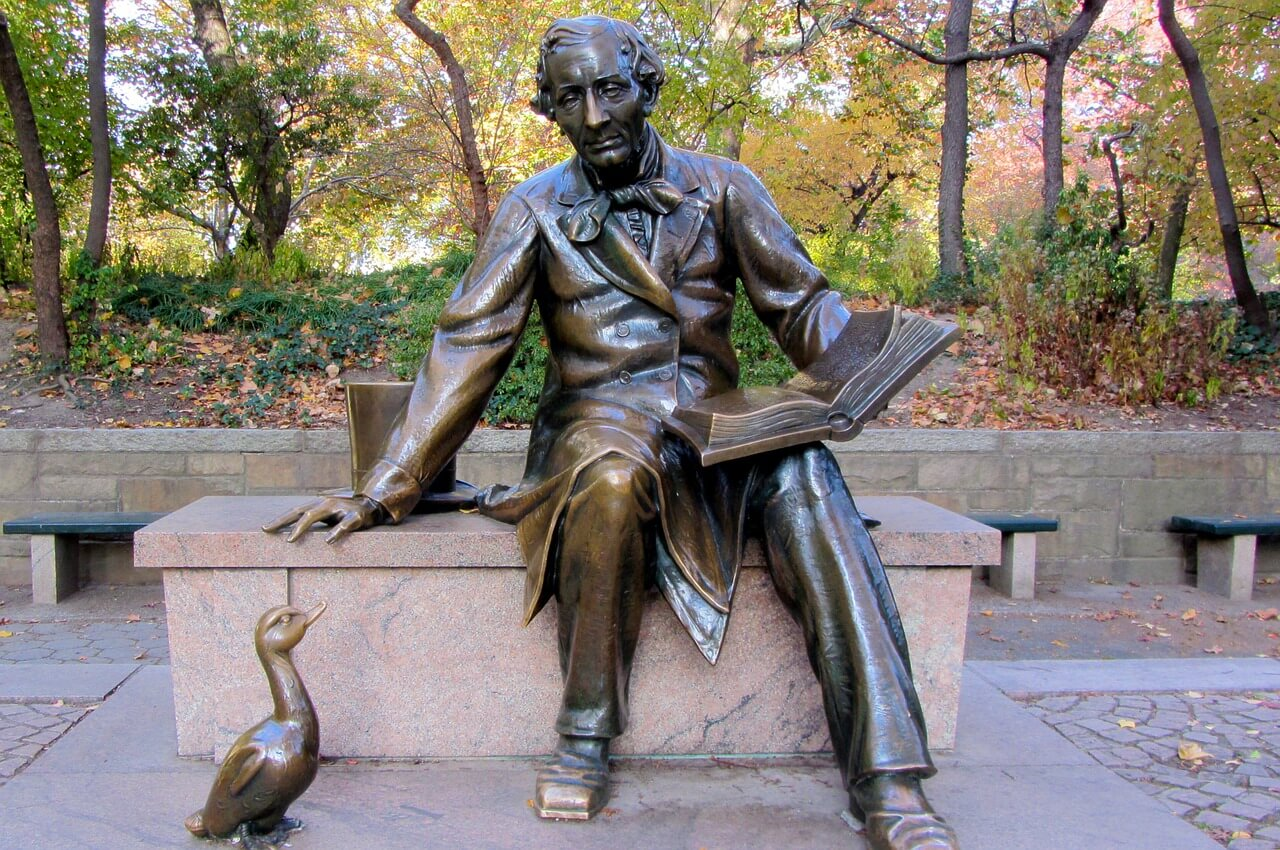 Hans Christensen Statue in Central Park in New York