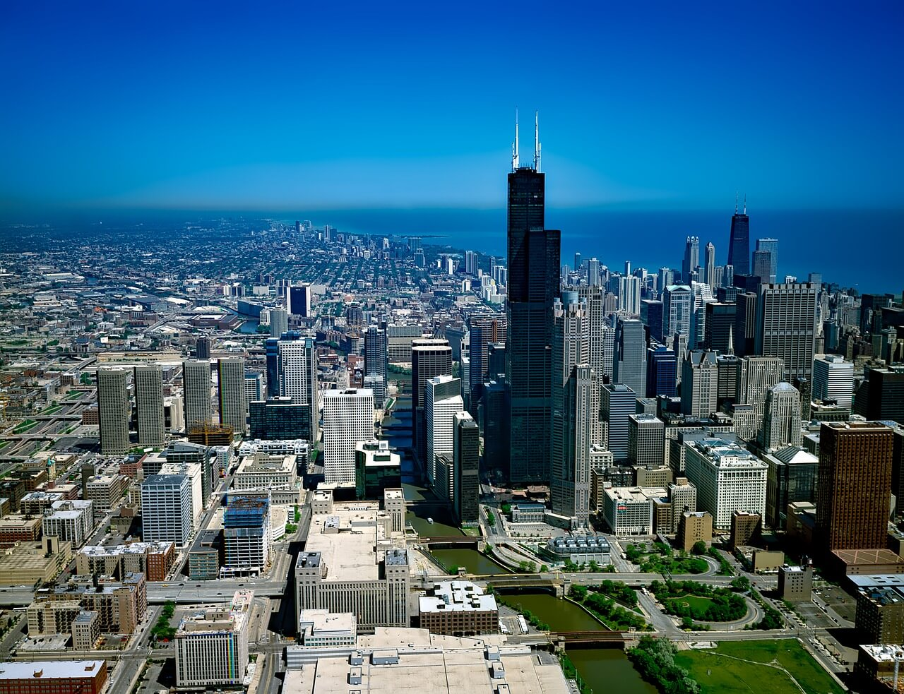 Chicago Skyline including Willis tower
