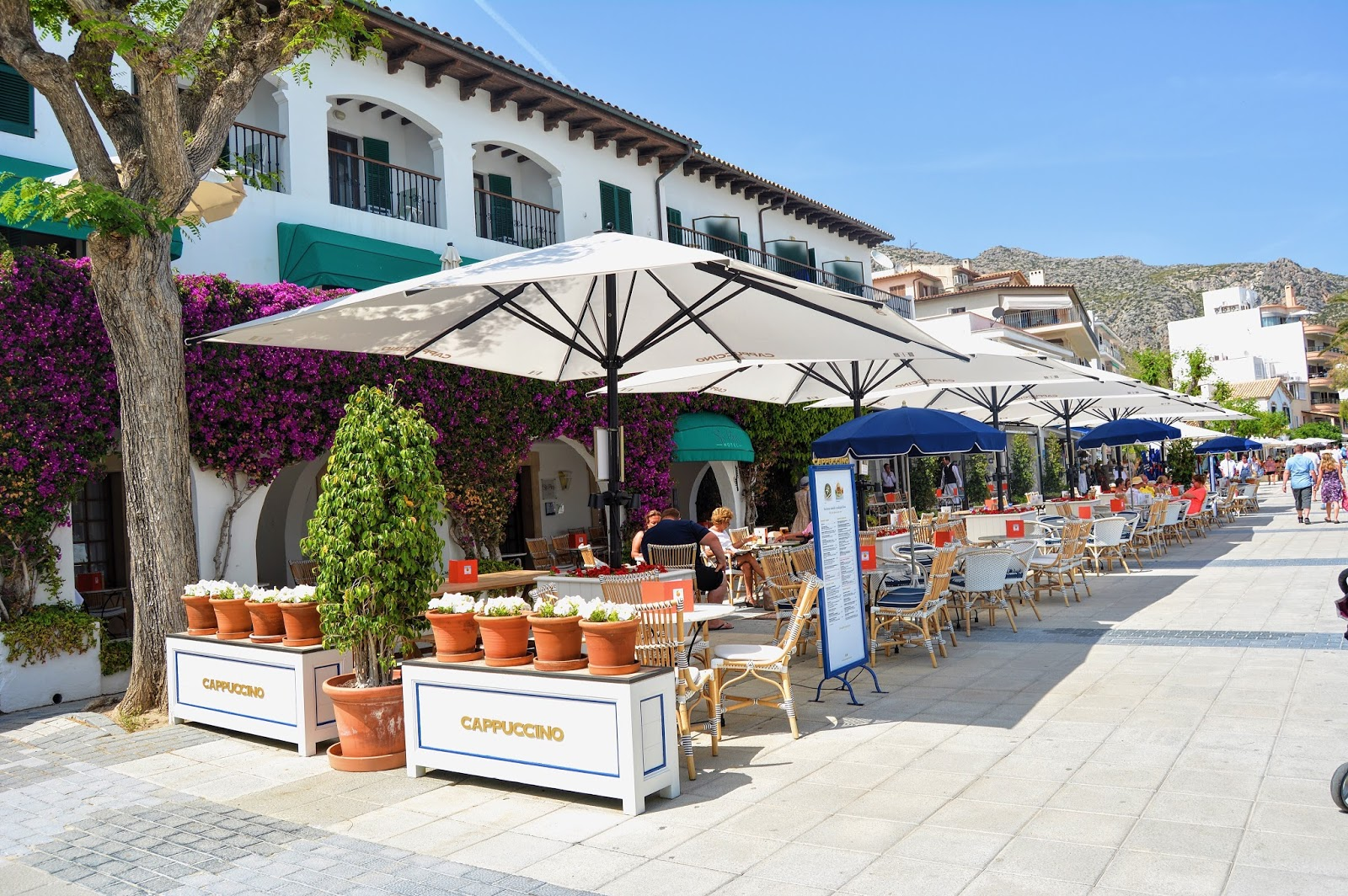 A photo of a patio in Mallorca Spain from the post 'planning a Europe Trip from India'