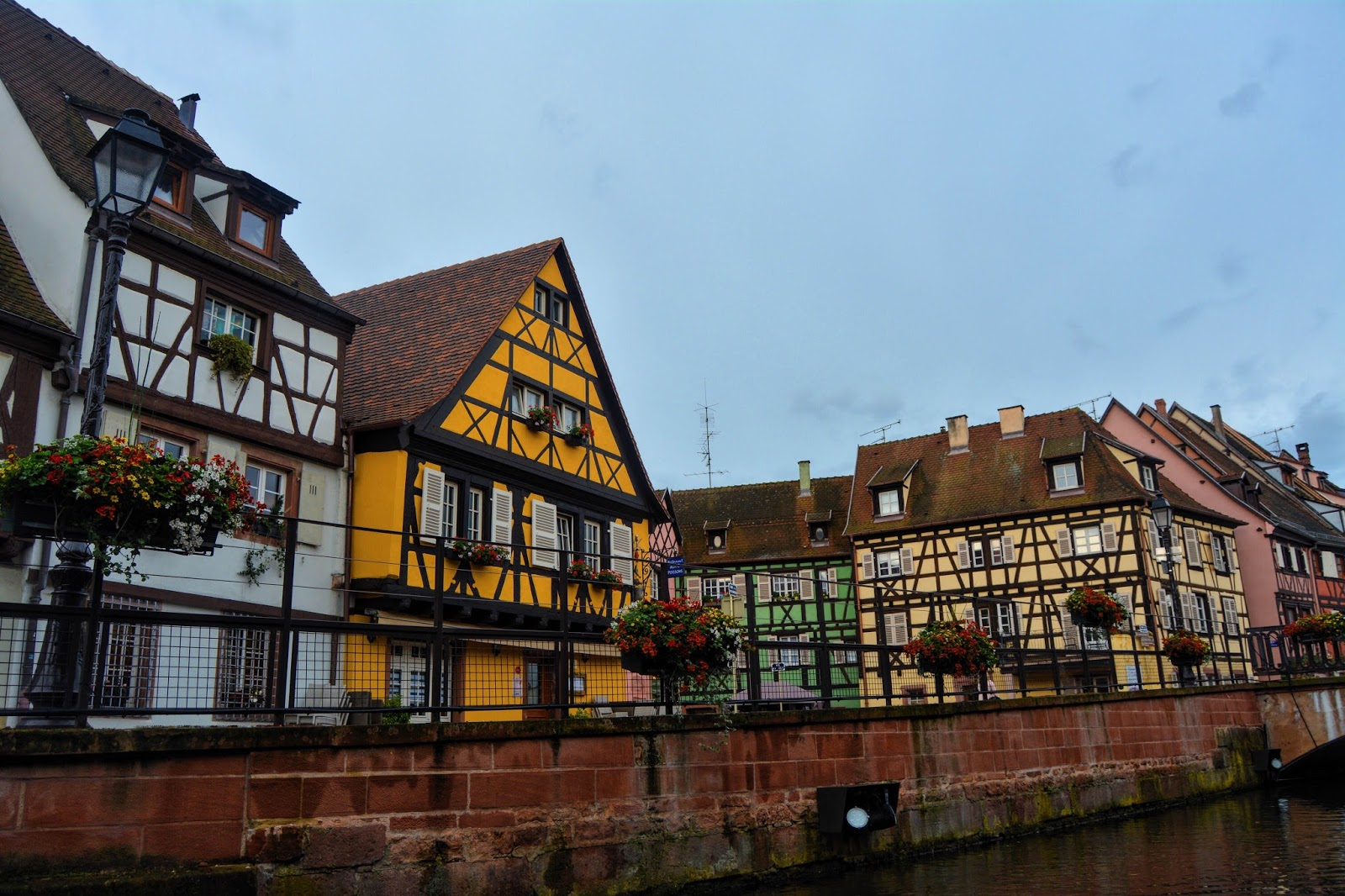A colourful village in France, Colmar with lots of colourful houses