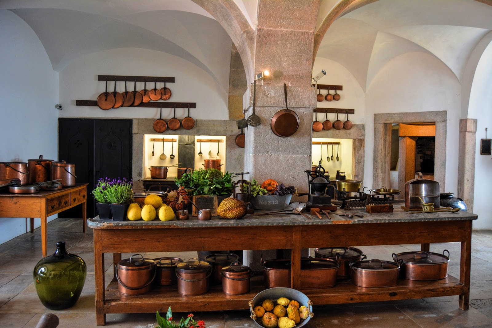 A photo of a massive kitchen inside the Pena palace in Portugal