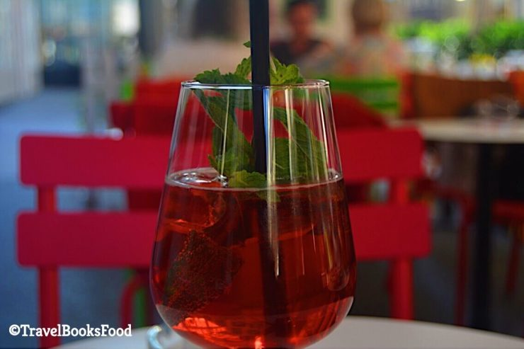 Red wine spritzer in Vienna