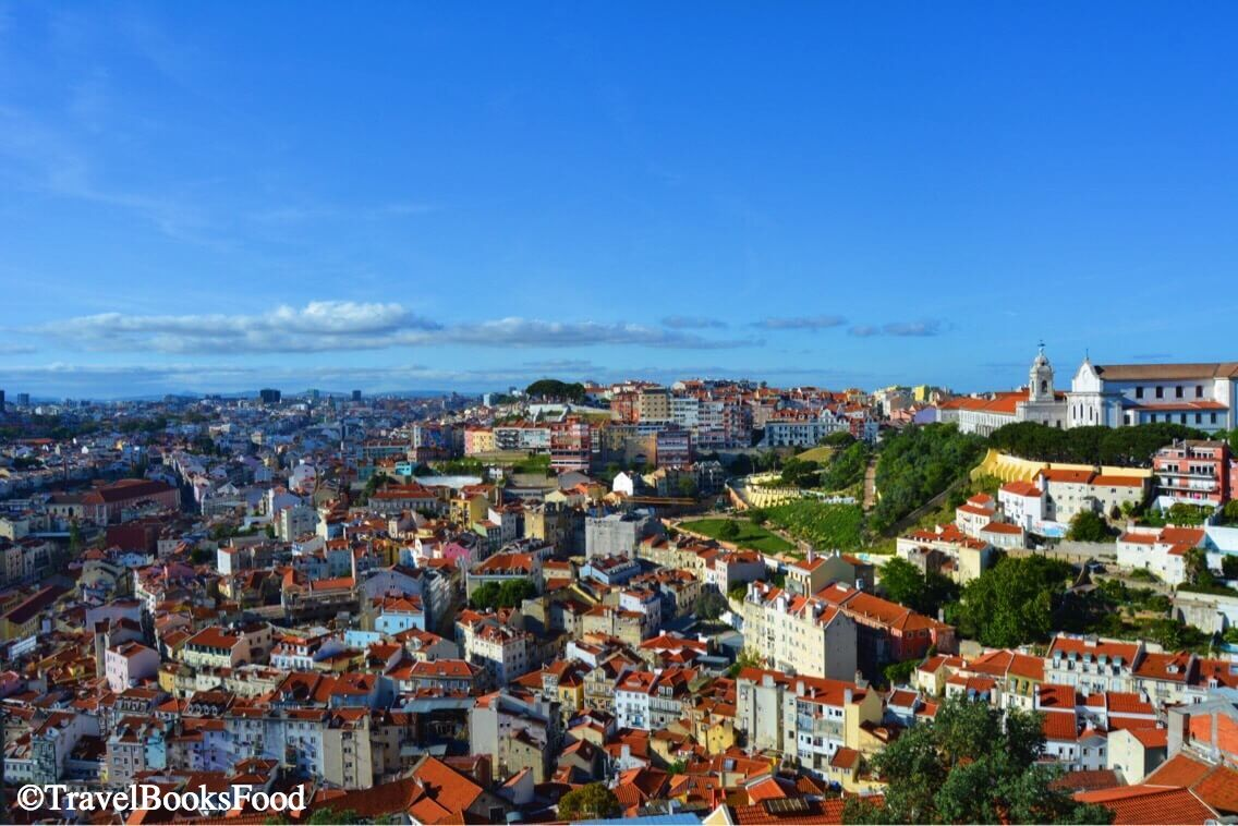 A view of Lisbon City from top of the hill. Brown is the significant color since many of the roofs are brown