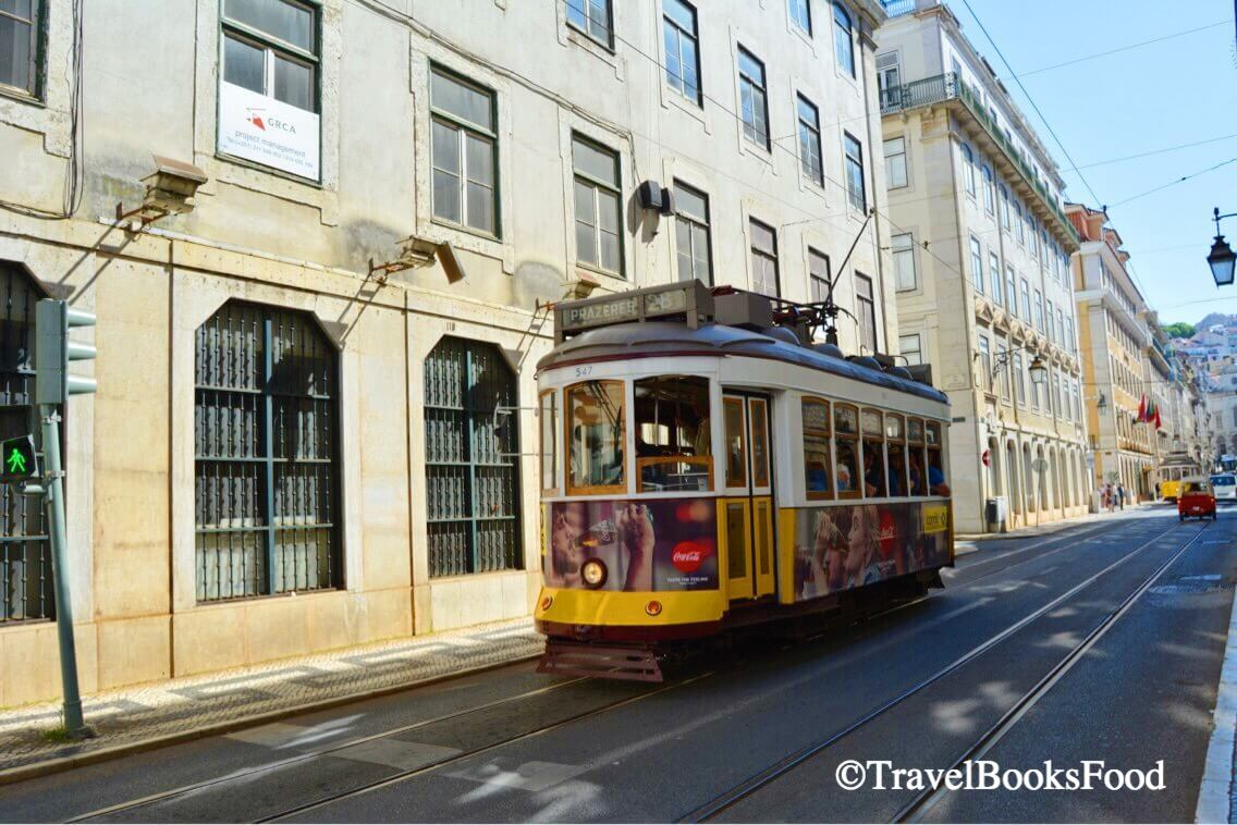A photo of an operational and famous Tram No 28 in Lisbon