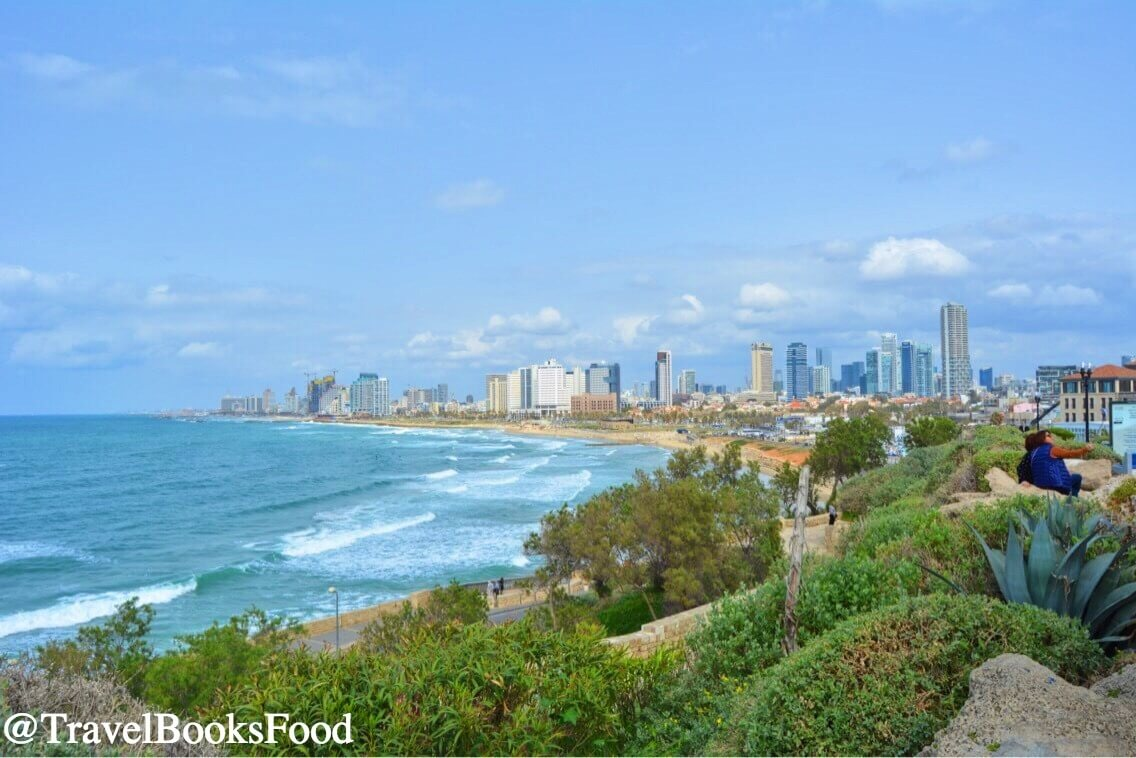 View of the Tel Aviv City with the ocean in the background from Jaffa City