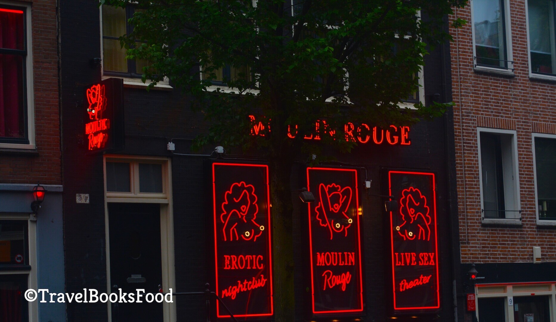 A sex shop in the red light district in Amsterdam, Netherlands