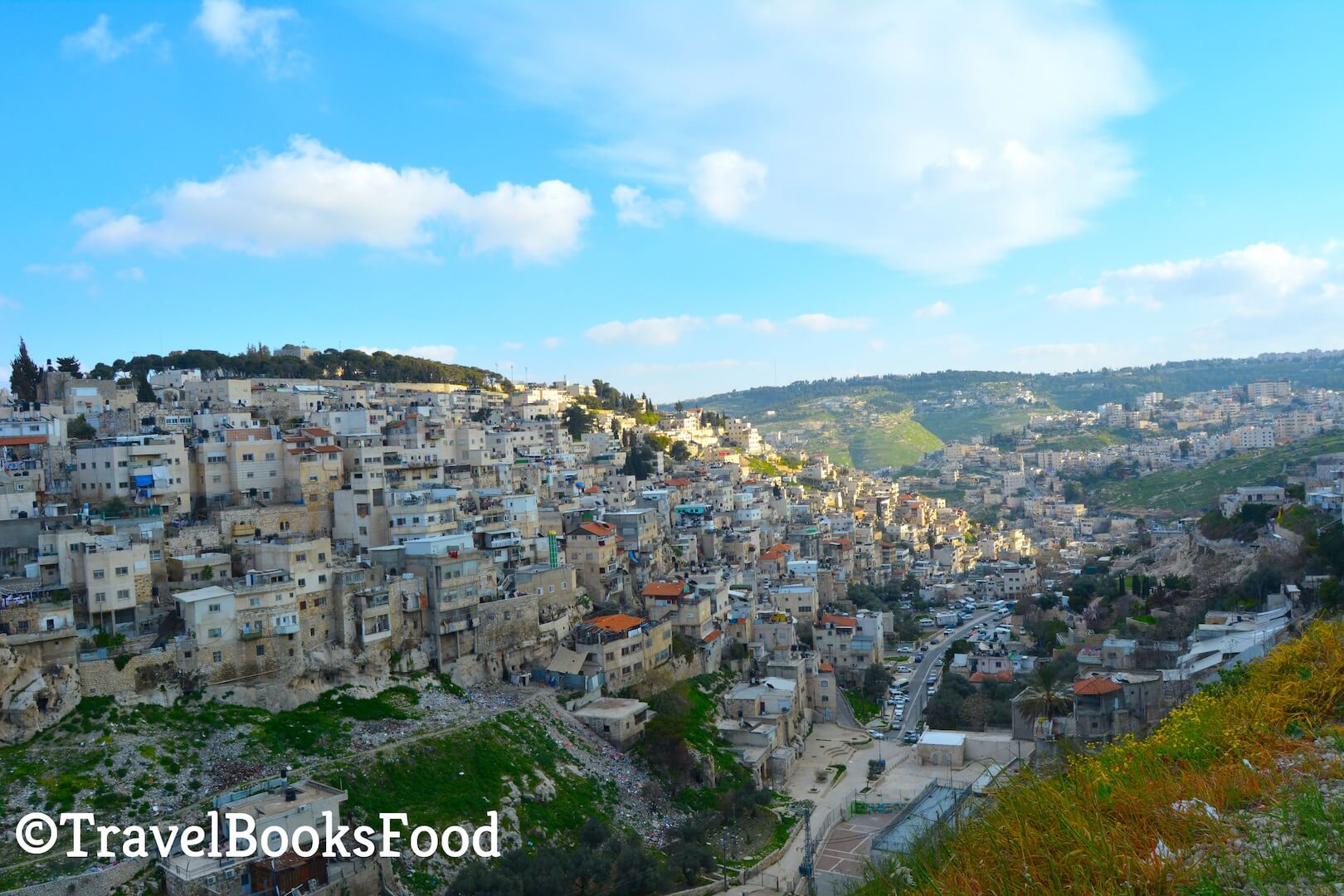 A view from the top of a neighbourhood in Jerusalem, Israel