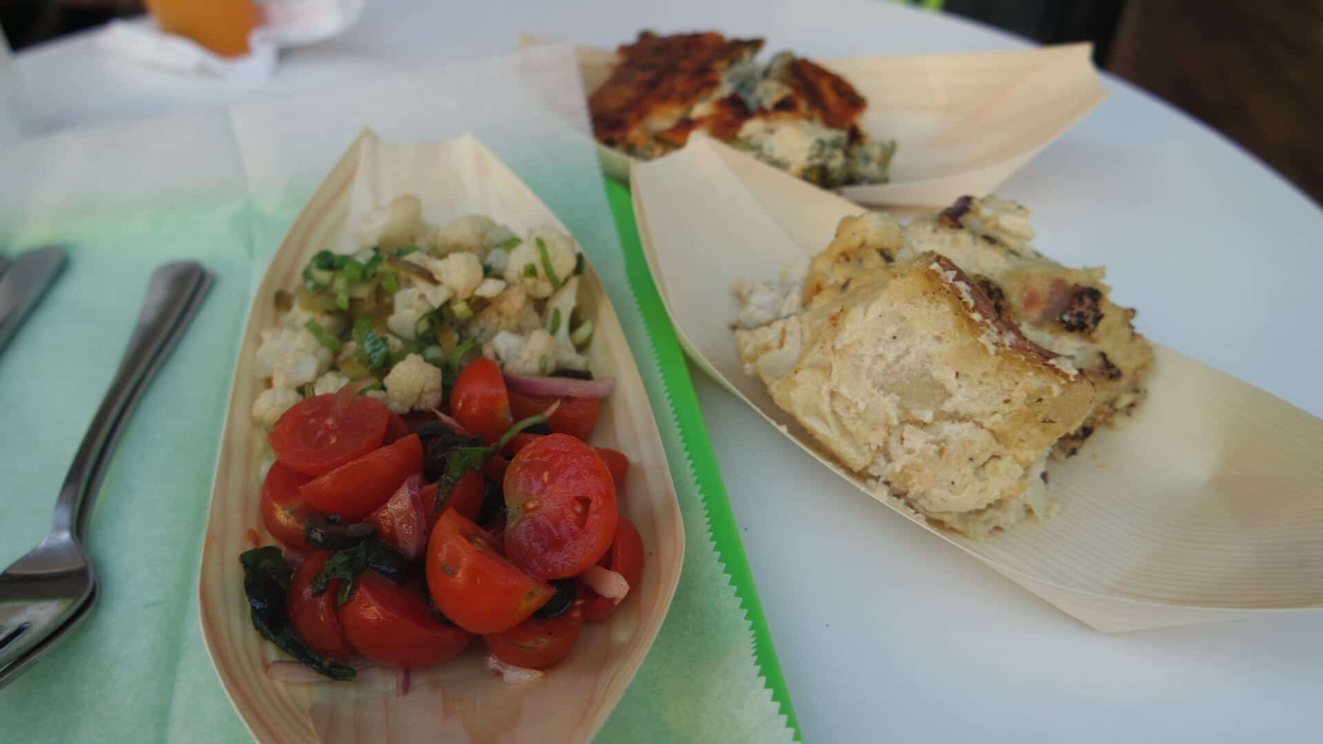 A photo of the different types of vegetarian salads found in Israel