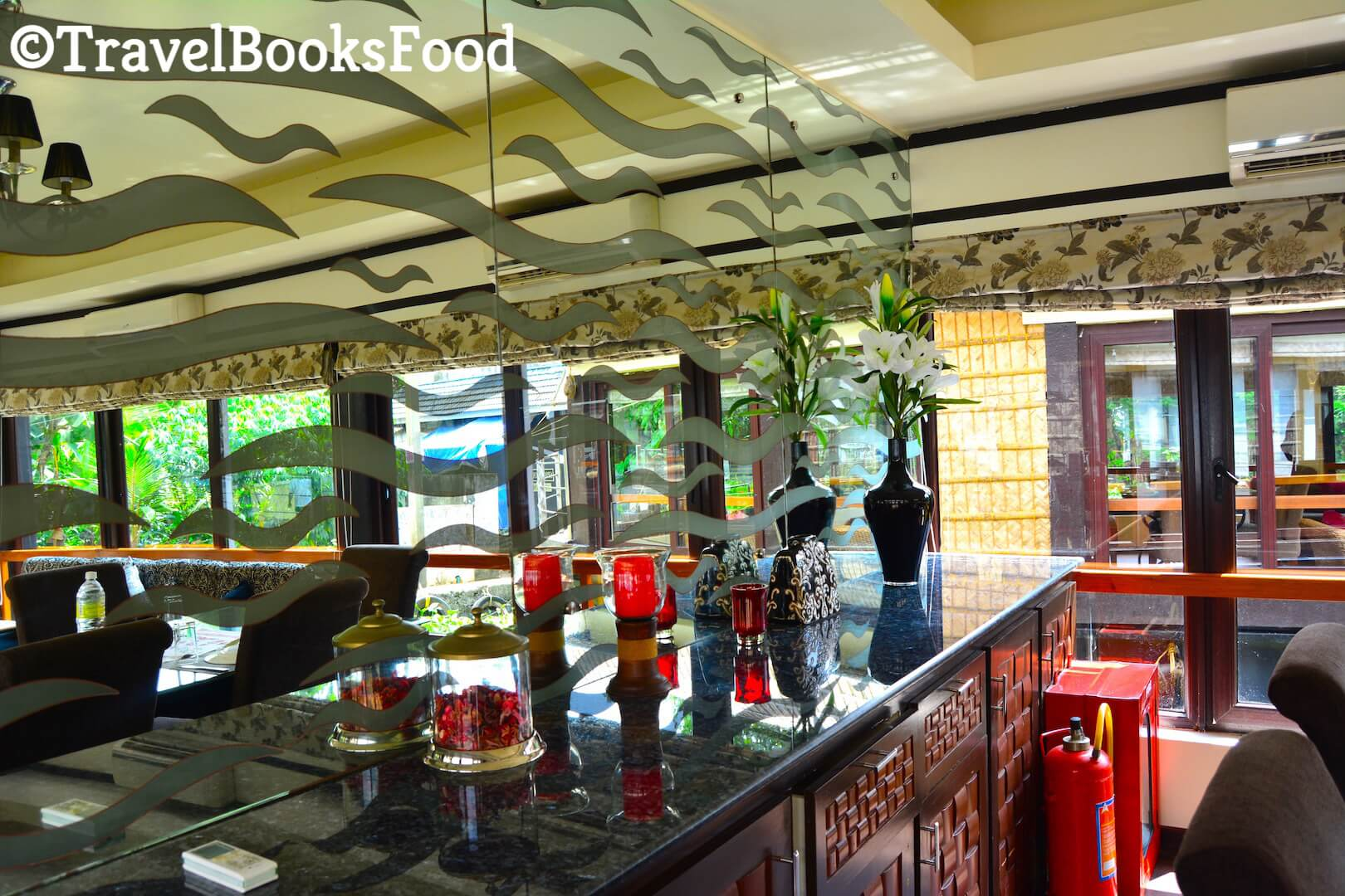 Photo of dining room inside Spice Routes Luxury Houseboat in Kerala, India