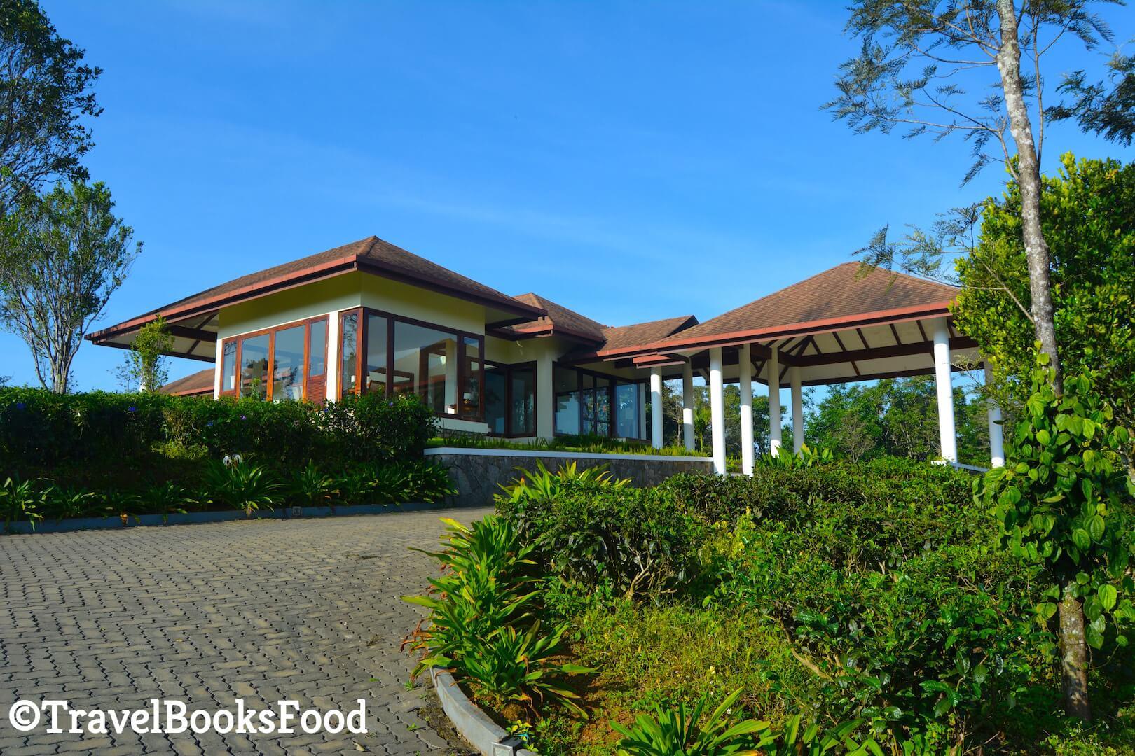 Photo of the reception of Carmelia Haven Resort in Thekkady, Kerala, India.