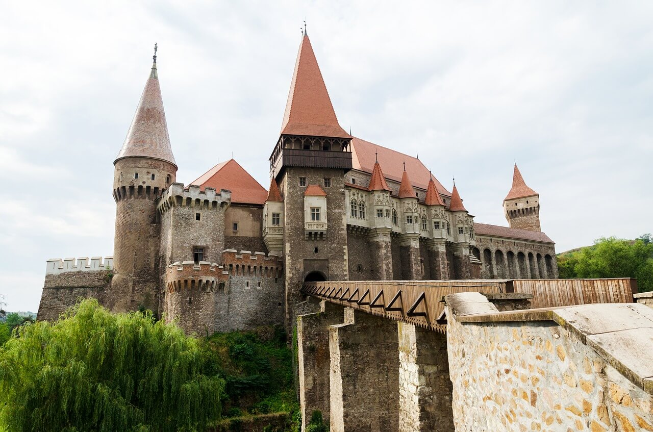 Famous Dracula castle in Romania