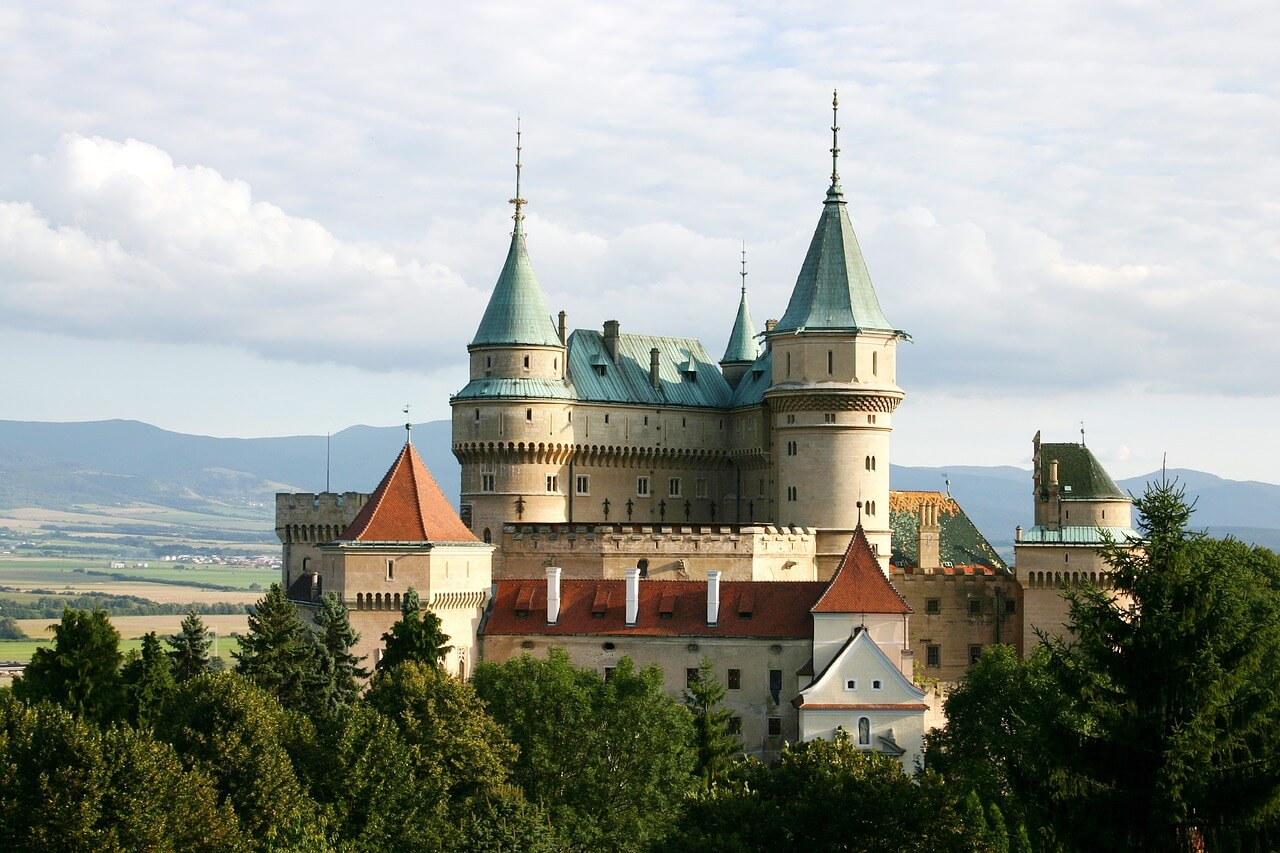 The photo of the castle in Slovakia
