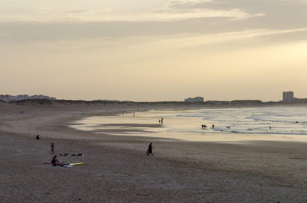 A photo of a sandy beach in Lisbon