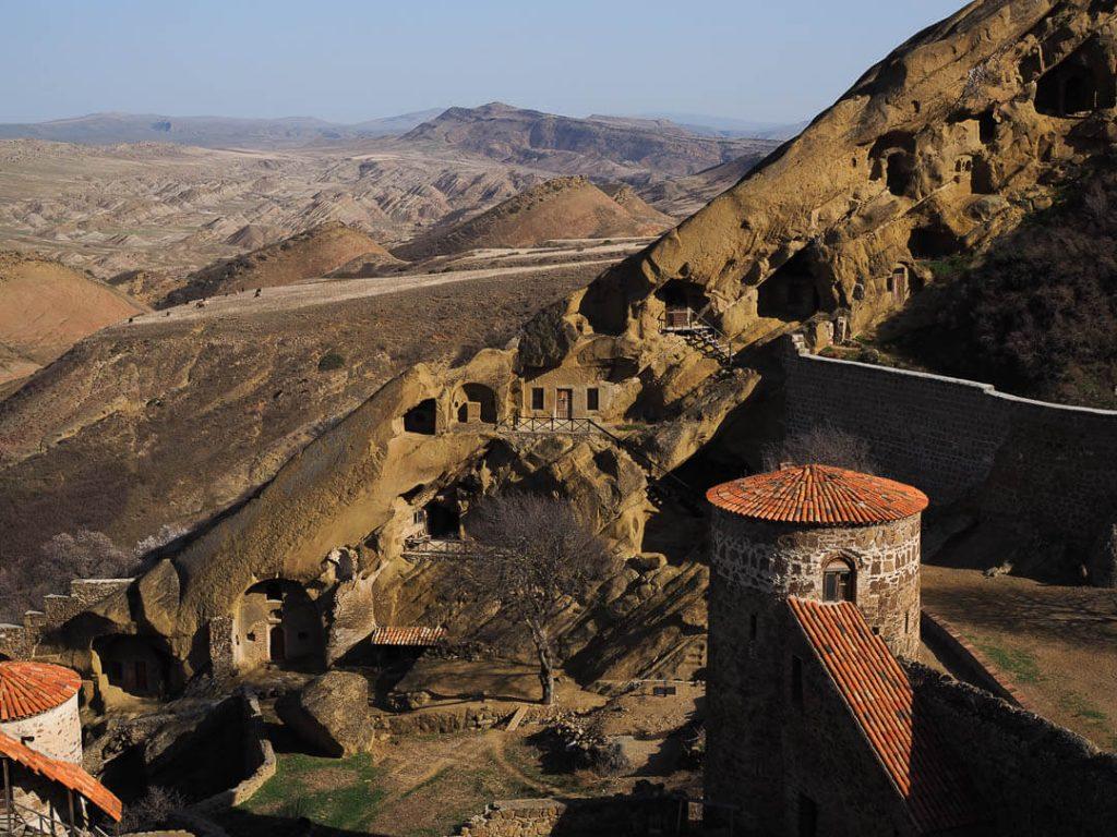 The David Gareja Monastery inside the mountain