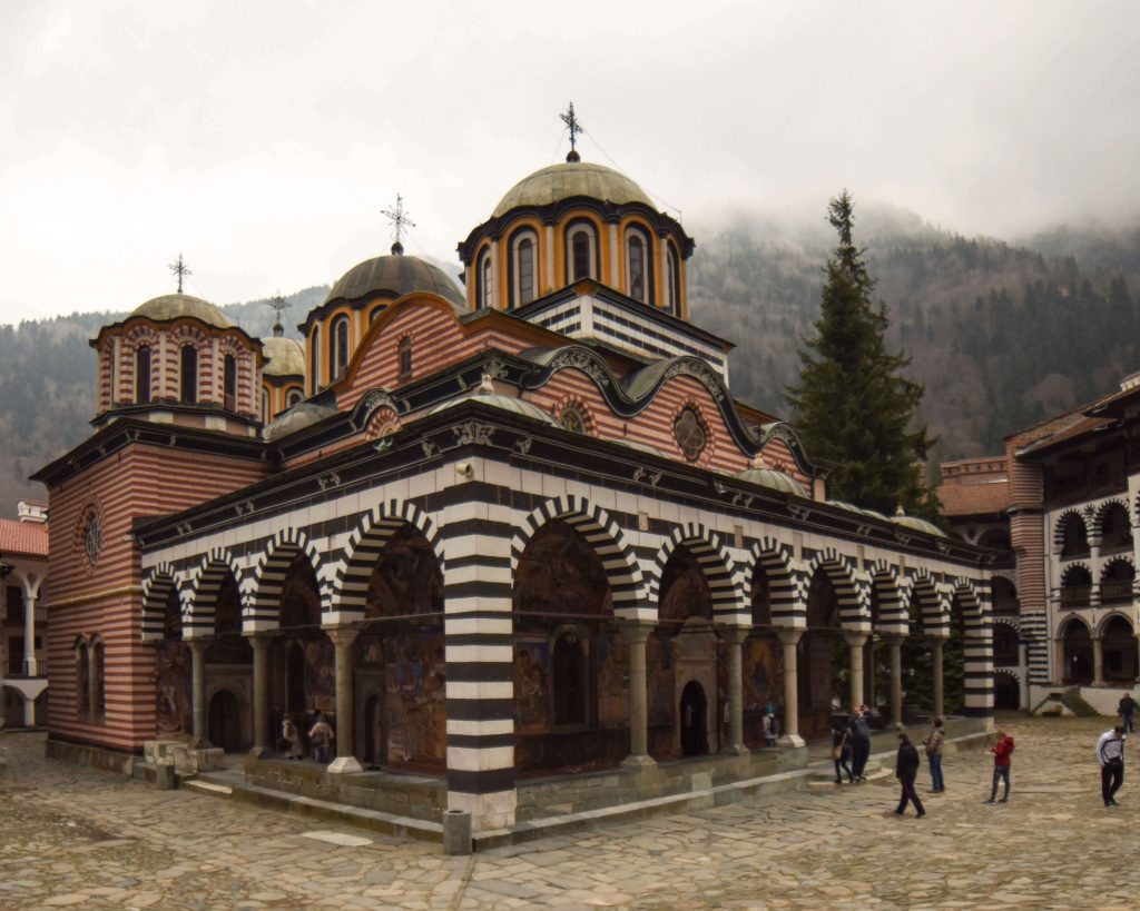 A photo of a monastery in Vitosha, Sofia, Bulgaria