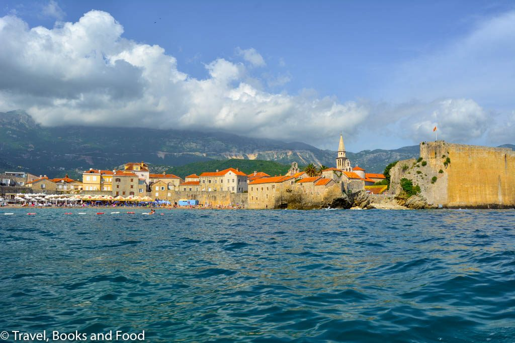 The coast of Budva from Montenegro coast