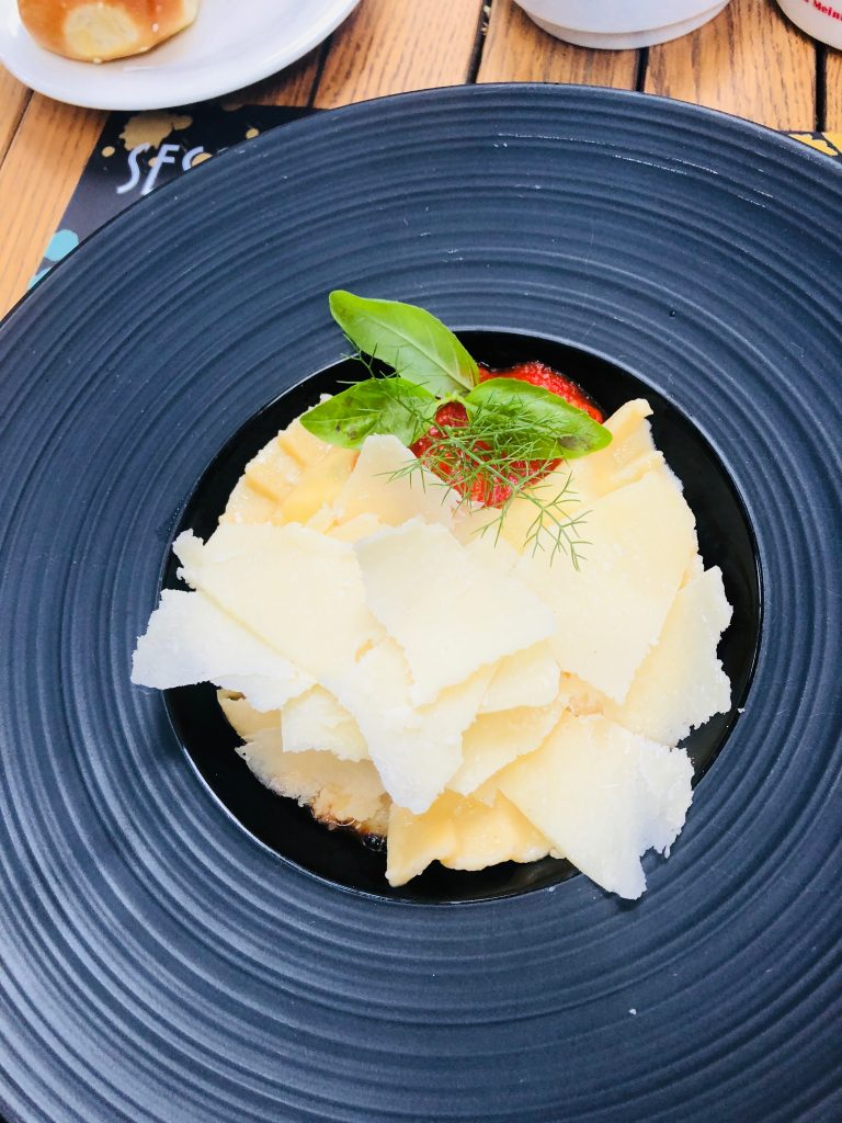 A pasta dish in Dubrovnik