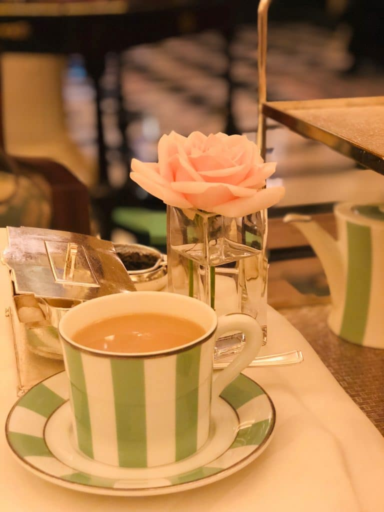 A fancy English tea at Claridges, London