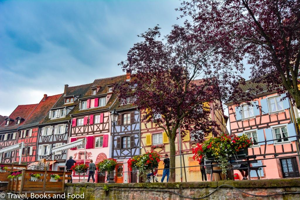 Another row of colourful houses in the fairytale village of Colmar, France
