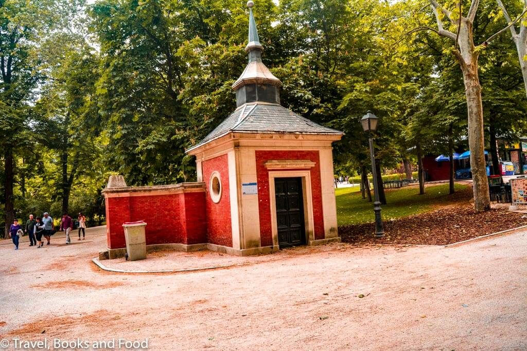 A small house like structure with a spire inside the Retiro park in Madrid, A favorite European capital