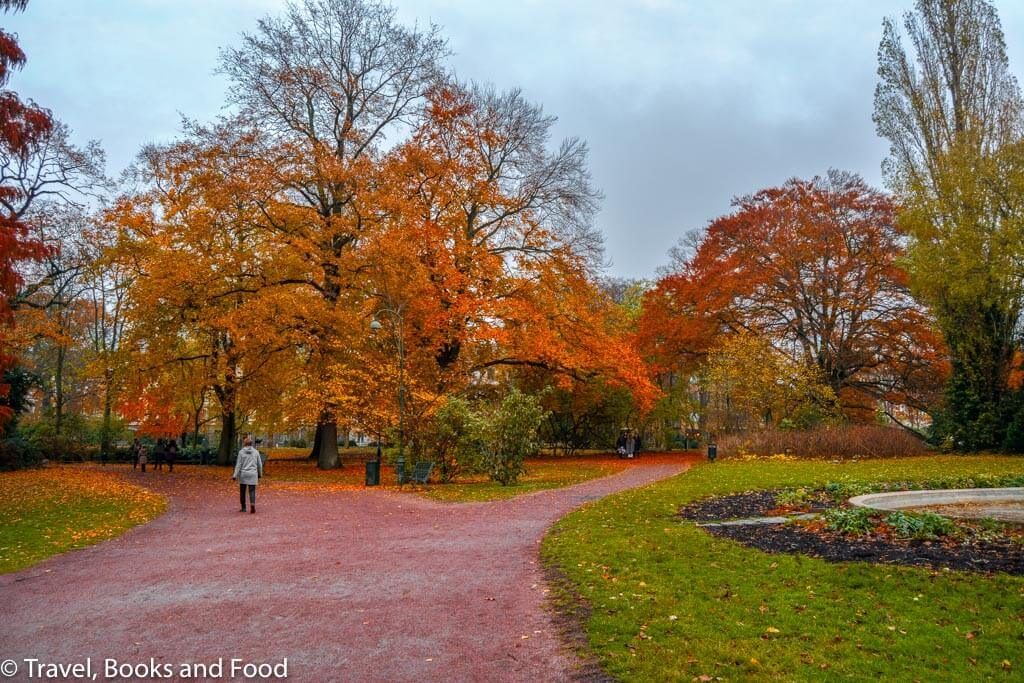 Malmo in Sweden was full of gorgeous fall colours ranging from orange, yellow and red. A park in Malmo with the Autumn colours