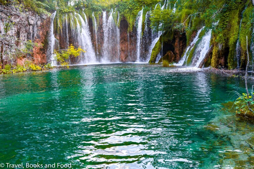 A waterfall in Plitvice Lakes National Park, one of the most beautiful European National Park