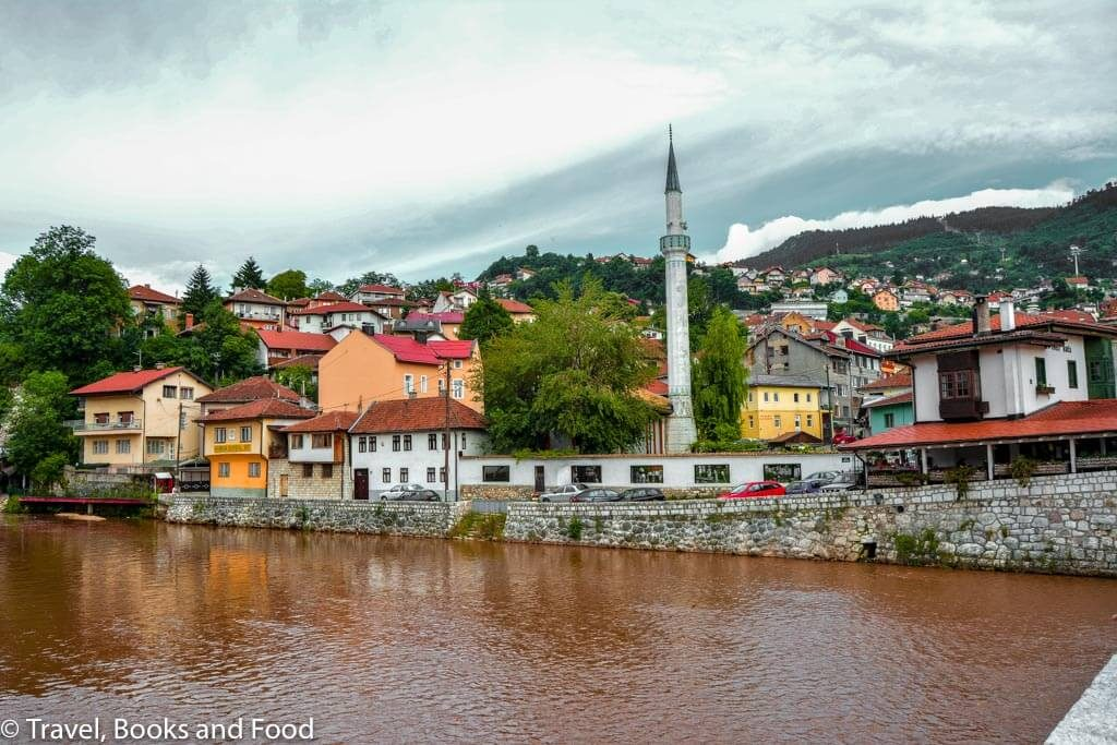 Sarajevo city by the river, one of my favorite European city breaks