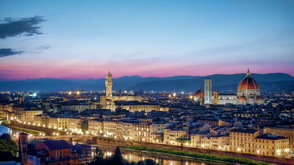 Panoramic View of the city of Florence from Piazzale Michelangelo