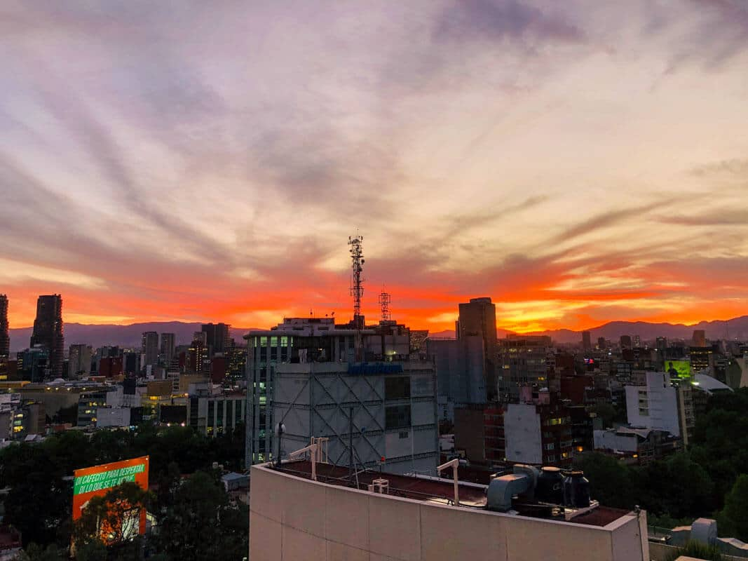 A skyline of Mexico city while living as an expat in Mexico City