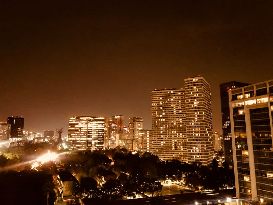 A view from our apartment in Polanco: First time Tips for people travelling to Mexico City