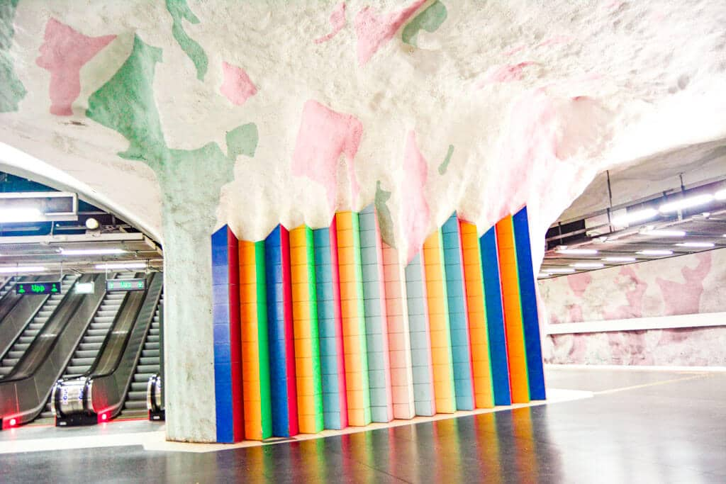 Stockholm has some of the best artwork when it comes to subway stations
