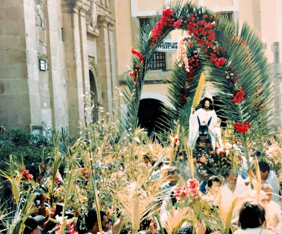 An easter procession in Taxco, Mexico