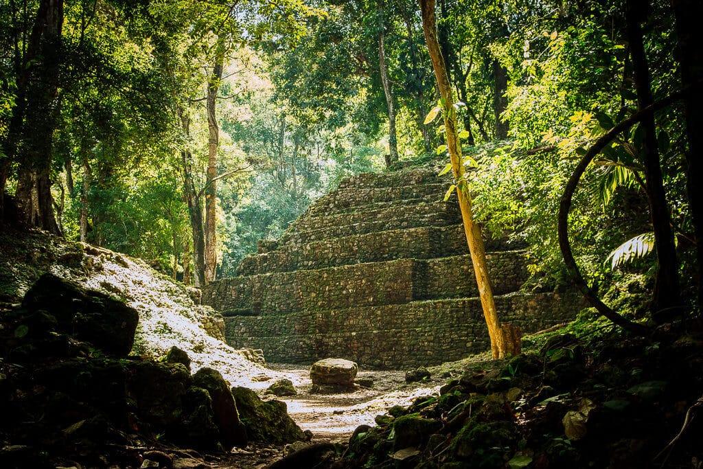 A Mayan ruin in Yaxchilán