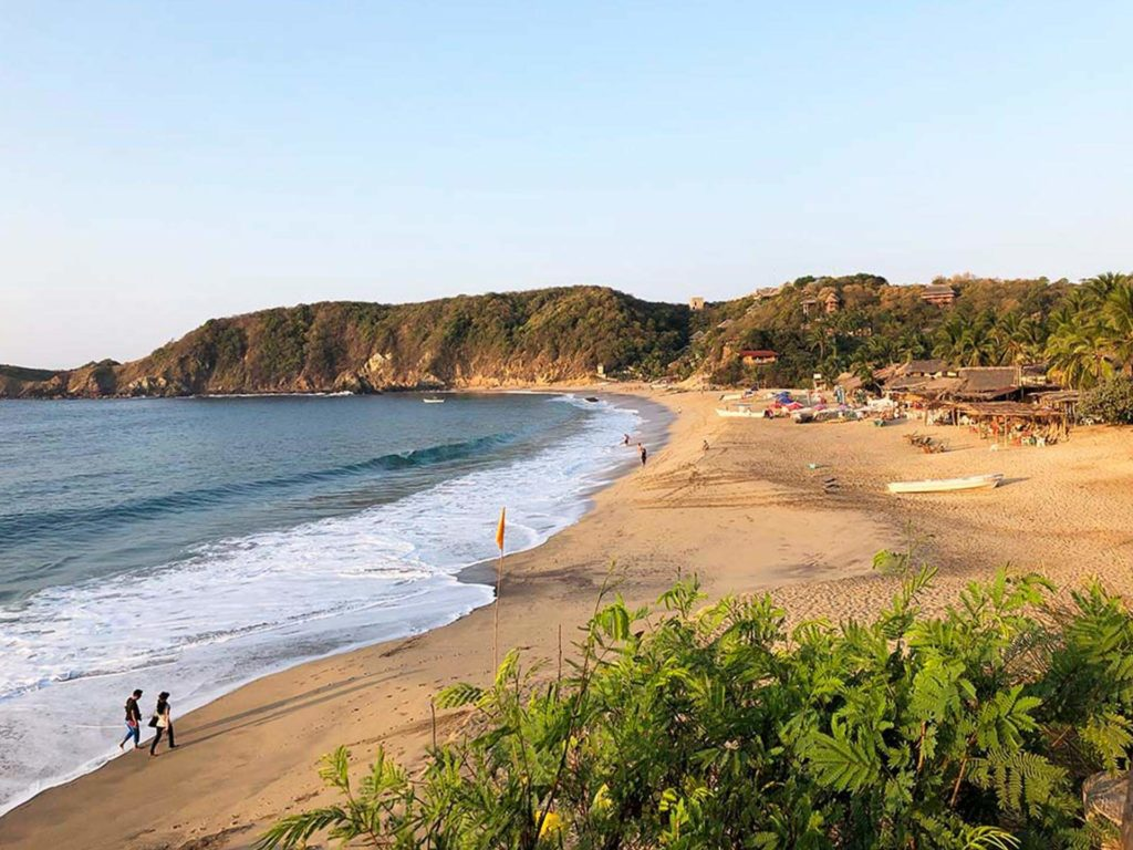 A seaside Cliff overlooking water in Mazunte
