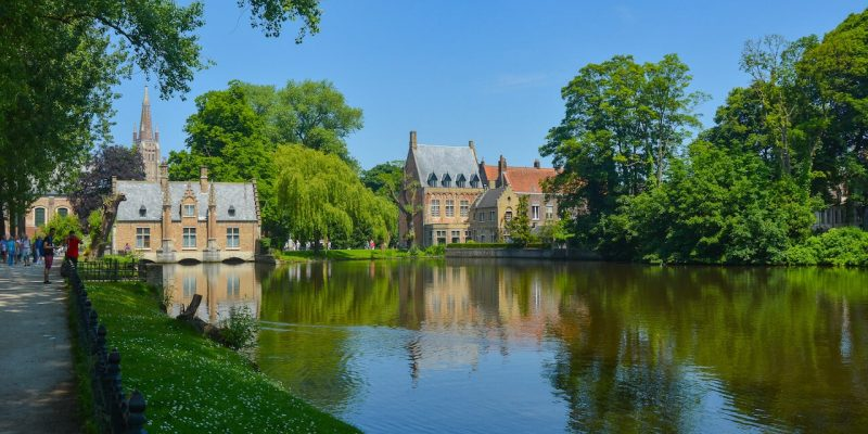 A gorgeous day at Bruges in Belgium